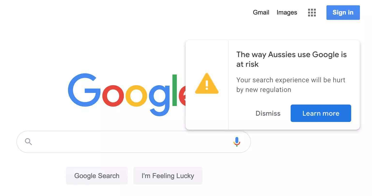 GOOGLE VS AUSTRALIA. HOW DOES THE NEW MEDIA REGULATION LAW IMPACT YOUR BUSINESS GOOGLE RANKING ?