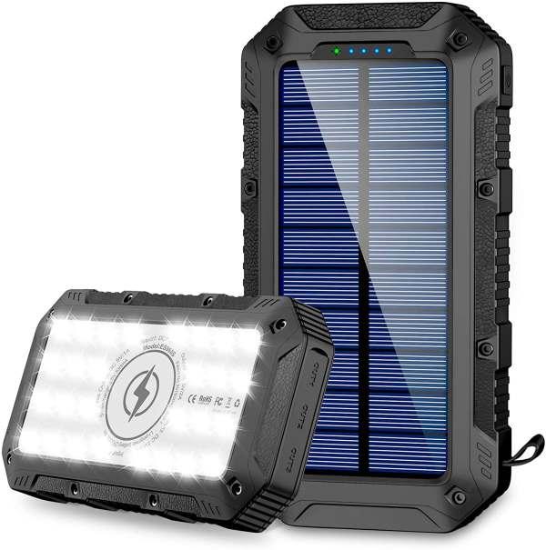 GRDE 26800mAh Solar Power Bank