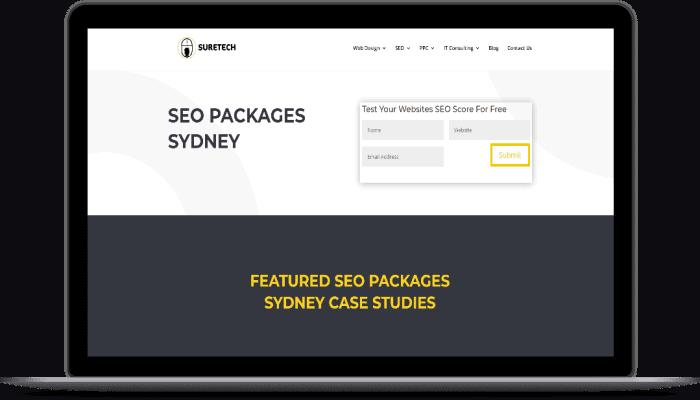 suretech seo case study website design